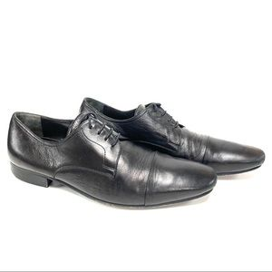Bruno Magli mens Black Cap Toe Derby Dress Shoe 11
